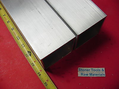 2 Pieces 3x 3x 18 Wall X 14 Long Aluminum Square Tube 6063 T52 3sq X .125