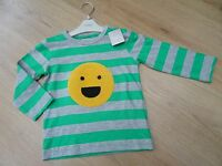 Baby Boys Next Age 12-18 Months Top Happy Face Soft Sun Emoji Print - next - ebay.co.uk