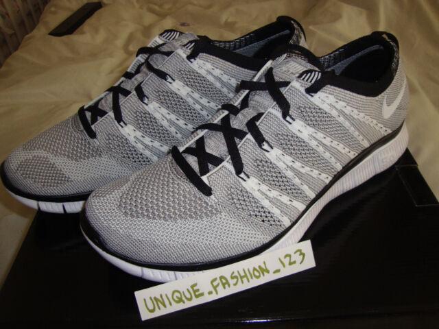Nike Free Flyknit Chukka Noir  / Gris-blanc Ebay Uk