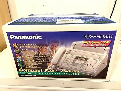 Panasonic Kx-fhd331 Compact Plain Paper Fax Copier And Telephone System Sealed
