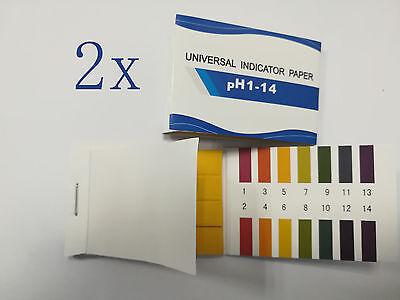 2pack Ph Test Strips 160strips Full Ph Controller 1-14st Indicator Litmus Paper