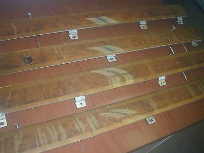 WOOD DOOR CAPS, SET OF 4, ROLLS ROYCE SILVER SHADOW, BENTLEY T, RHD