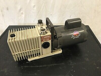Varian Sd-200 Vaccum Pum W Franklin Electric 12 Hp 115208-230v Motor