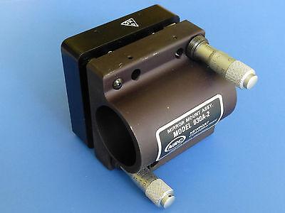 Newport 630a-2 Rod-mounted Mirror Mount W Micrometers For 2 Diameter Optics