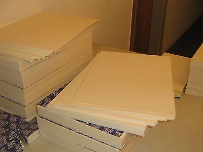 50 Blatt Vorsatzpapier 110 g/qm gerippte Struktur A4 Säurefrei weiss