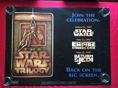 Star Wars Trilogy Special Edition Original Rare UK Quad Poster