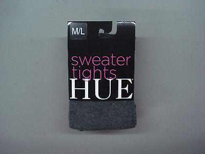 NWT Hue Flat Knit Sweater Tights Size M/L Graphite Heather #903C