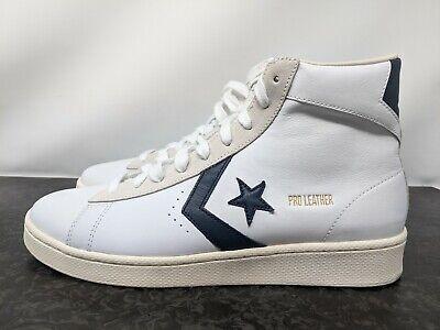 Converse Pro Leather OG Mid 167968c White/Obsidian Egret Mens Shoes Sz 9.5 NEW