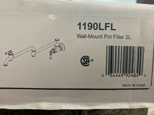 Delta Broderick 4 GPM Wall mounted pot filler - 1190LFL - POLISHED CHROME