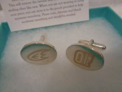 TIFFANY & CO STERLING SILVER  Anaheim sports team CUFFLINKS