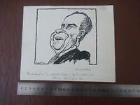 President Nixon -richard Nixon 37th U.s. President - Pen & Ink Orig 20th C Illus - nixon - ebay.co.uk