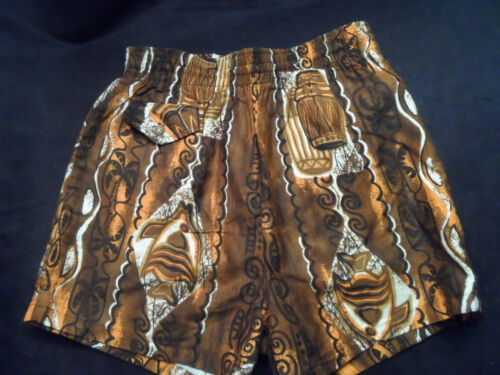 Vintage Paradise Hawaii Mens Swim Trunks Bathing Suit Tiki Sz M