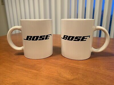 VTG Bose Better Sound Through Research white 8oz Coffee Mug Cup Stereo