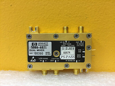 Hp Agilent 5086-6821 310.7 Mhz 3.9107 Ghz Sma F Dual Band Microwave Mixer