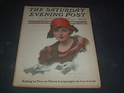1918 NOVEMBER 16 SATURDAY EVENING POST MAGAZINE - FULL PAGE COLOR ADS - O11117 - November Coloring Pages