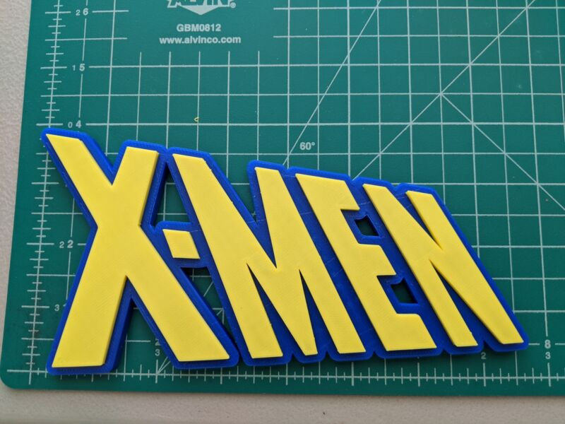 X-MEN 3D printed display logo wall mount Marvel