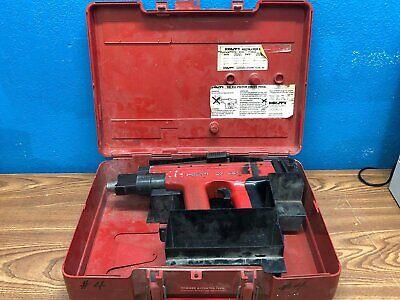 Used Hilti Dx451 Powder Actuated Fastening Nail Gun Tool Case Dx 451