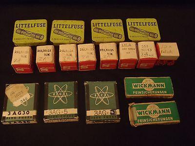 Vintage Ham Radio Fuses Littlefuse Phillips Wickman Lot Of 16 Boxes