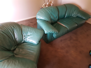 Leather couch Wallan Mitchell Area Preview