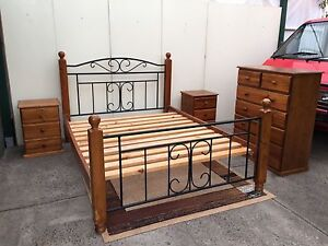 4 Piece Queen Size bedroom suite free delivery Springvale South Greater Dandenong Preview