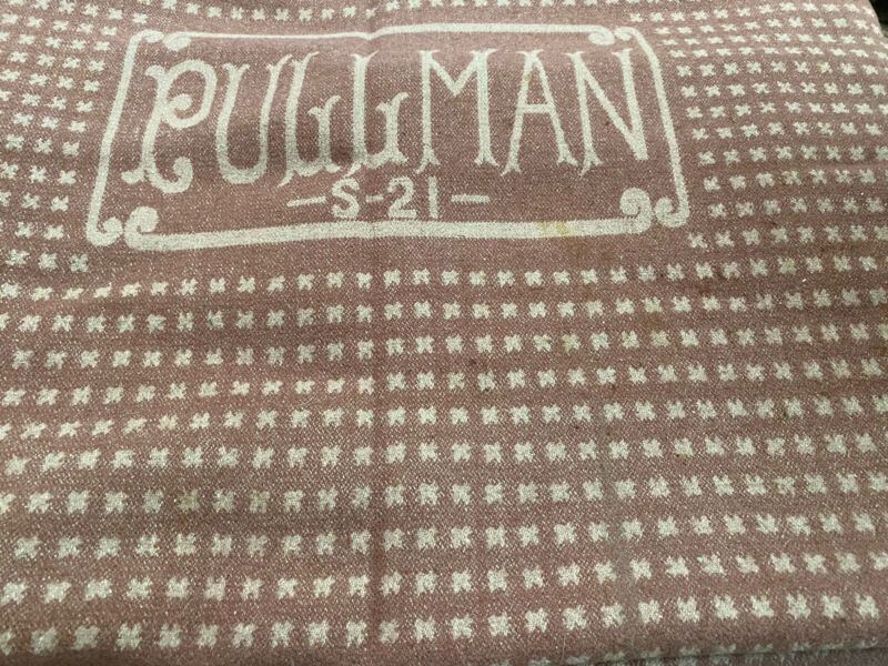 "Vintage Pullman Wool Blanket Railroad Train No S 21  86"" X 57"""