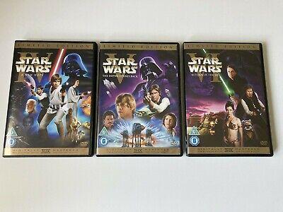 Star Wars The Original Trilogy - 6 DVD Set - Bonus Original Theatrical Releases