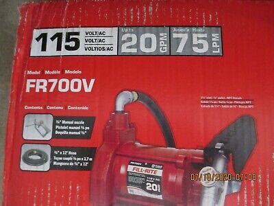 Heavy Duty Fuel Transfer Pump Meter Tuthill Fill Rite Fr701v 115 V Ac 20 Gpm