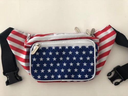 SoJourner Fanny Pack USA American Flag Stars and Stripes  NE