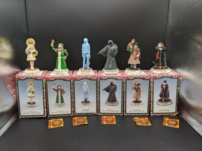 1993 Novelino~A Christmas Carol~By Charles Dickens Complete 6 Figurines & Boxes