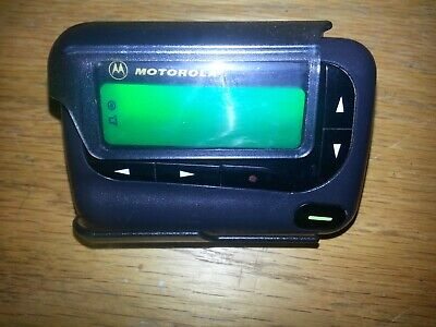 MOTOROLA GOLD  ALPHA PROP  PAGER / BEEPER  WITH HOLSTER!!