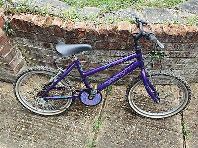 Kid's Child Purple Bike Used Need Repair works good project restoration upcycle