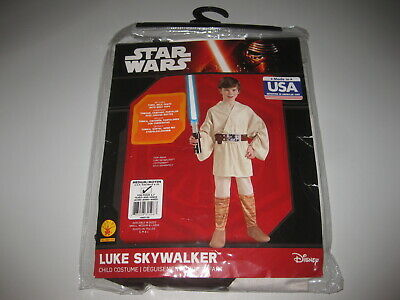 Luke Skywalker Halloween Costume Child (Kids LUKE SKYWALKER Costume Star Wars Halloween Size Medium 8-10 NWT)
