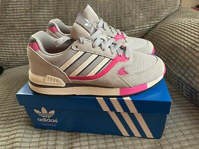 Adidas Originals Quesence Grey Pink Women Trainers Worn Once Uk5