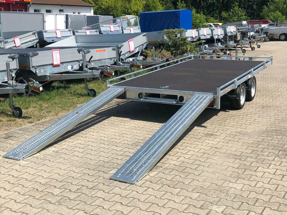 ⭐ Eduard Auto Transporter 3000kg 406x200cm Reling Rampen Winde 63 in Schöneiche bei Berlin