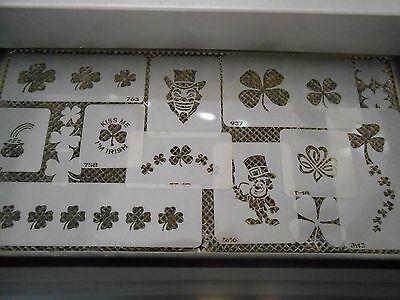 Airbrush Temporary Tattoo Set Saint Paddy's- Irish Designs New Island Tribal! ()