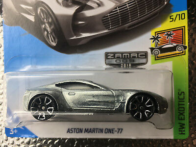 2018 Hot Wheels ZAMAC 009 Aston Martin ONE-77 (Silver) #5/10 Exclusive New