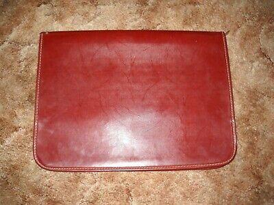 Vintage Zippered Leather Portfolio Organizerbusiness Case 16.5x 12