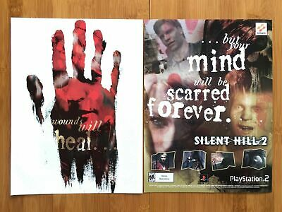Silent Hill 2 Playstation 2 PS2 2001 Vintage Print Ad/Poster Official Horror Art