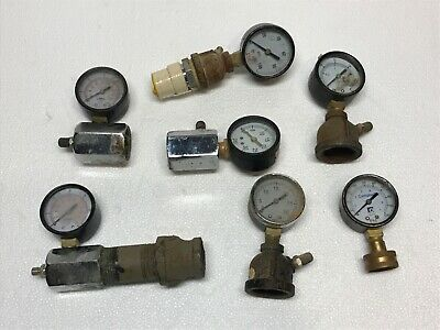 Leak Test Gauges Construction Plumbing Gas Pipe