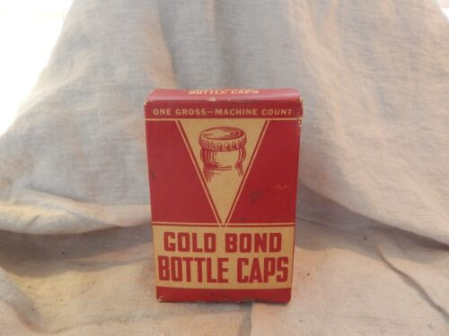 Vintage Package of Gold Bond Bottle Caps One Gross
