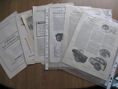 motor cycle 1949/ 1959 collection,  Brochures