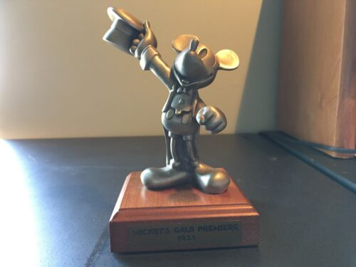 "Disney ""Mickey's Gala Premiere 1933"" Pewter Figurine LIMITED EDITION 196/2500"