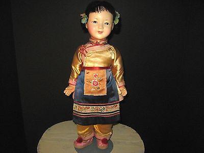 Antique Japanese Doll ICHIMATSU? NINGYO? Girl Gofun? Doll estate Japanese doll