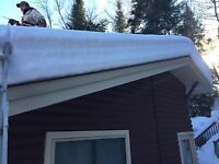 Roof shovelling snow removal cottage check ins