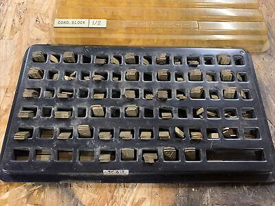 New Hermes Brass Engraving Master Font Set 35-017 Old No 182