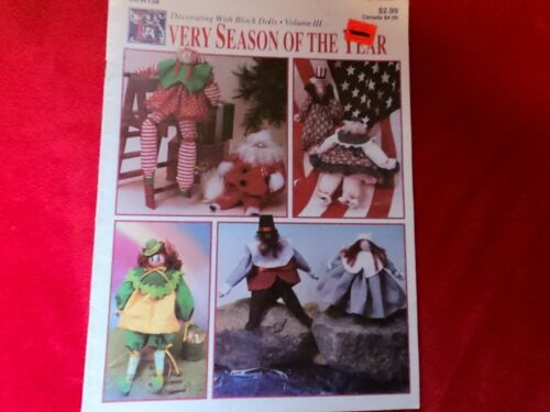DECORATING WITH BLOCK DOLLS EVERY SEASON OF THE YEAR CRAFT PATTERN c25
