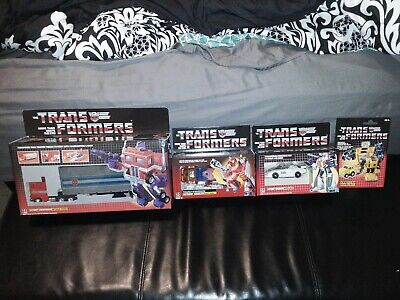 Transformer G1 REISSUE LOT OPTIMUS PRIME Hotrod Wheeljack Bumbleebe