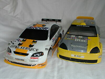 Tamiya 1/10 RC 2x Body Shell Karosserie Opel V8 + Renault Clio GT Rally Used