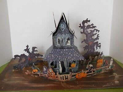 Vintage Hallmark Halloween Haunted House Pop-Up Decoration