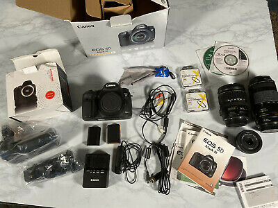Canon EOS 5D Mark III 22.3MP Digital SLR Camera - BUNDLE 3 Lenses Batts. Cards